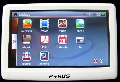 Pyrus Electronics 8GB MP4/MP5 Player