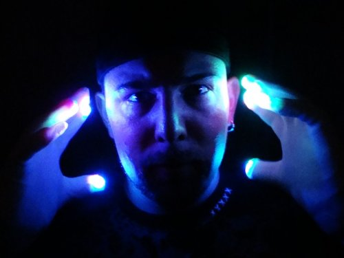 Raver Hands LED Light Fingers Pair of Gloves