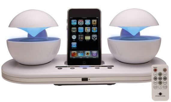 iCrystal Stereo iPod Docking Station with 2 Speakers