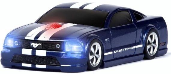 Wireless Mouse – Mustang GT Blue with White Stripes