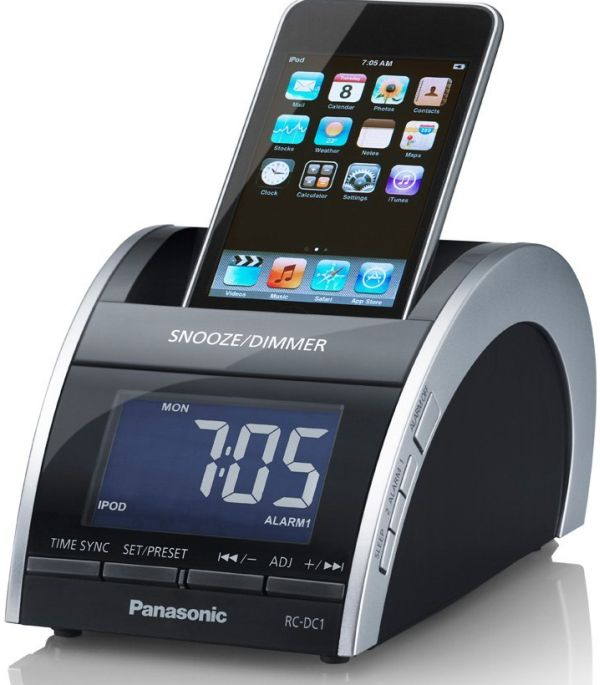 Panasonic iPod/iPhone Compact Clock Radion