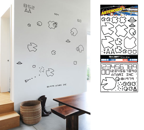 ASTEROIDS RE-STIK WALL GRAPHICS