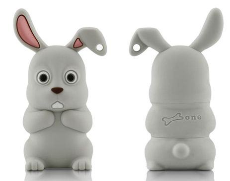 USB FLASH GREY RABBIT