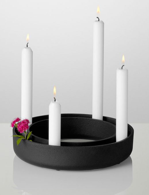 Gloria Candlestick Holder Black