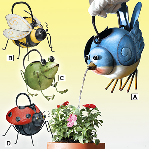 DECORATIVE OUTDOOR WATERING CANS