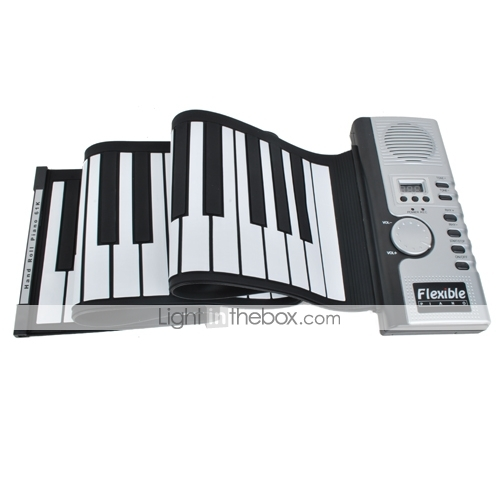 61-Key Digital Roll-up Soft Keyboard Piano with MIDI