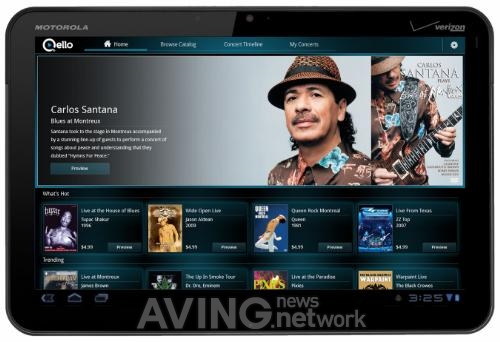 Qello Launches HD Concert Film App on MOTOROLA XOOM at CTIA