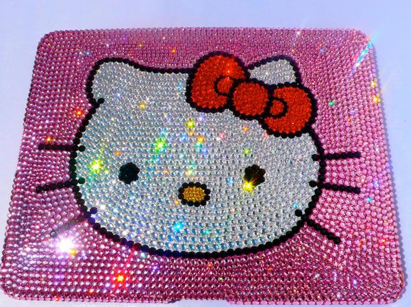 Hello Kitty Ipad Case Swarovski Crystal