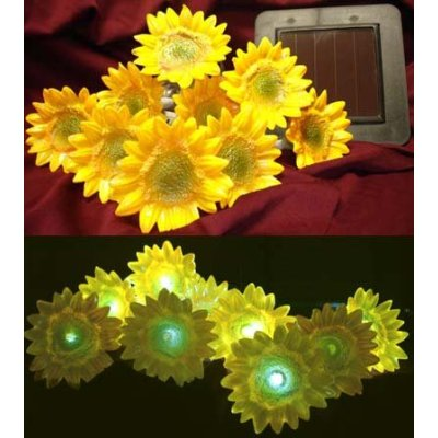 Decorative Small Yellow Sunflower String Solar Led Lights