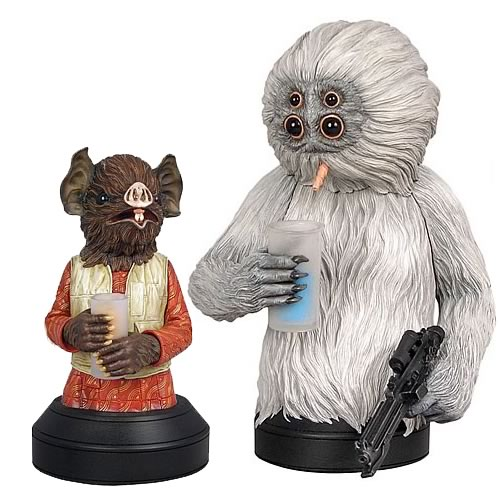 Star Wars Kabe and Muftak Mini Bust Sculpture