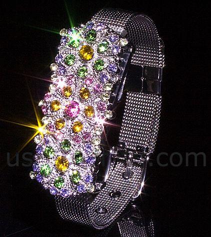 USB Jewel Flowers Bracelet Flash Drive