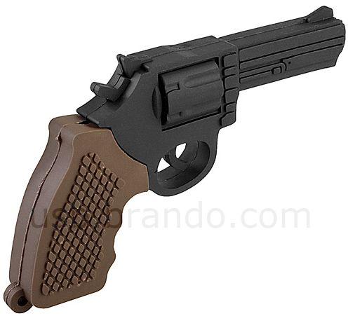 USB Police Revolver Gun Flash Drive