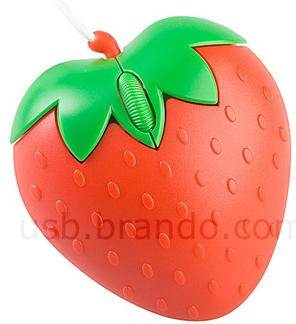 USB Strawberry Optical Mouse