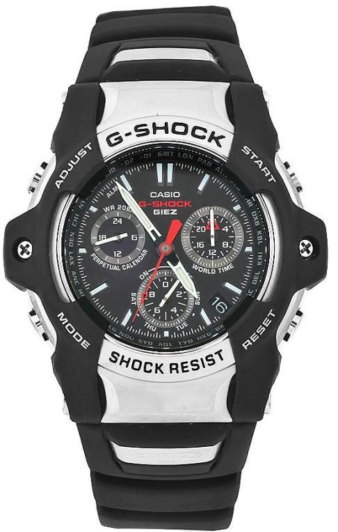 Casio Men's GS1001-1A G-Shock Black Dial Shock Resistant Watch