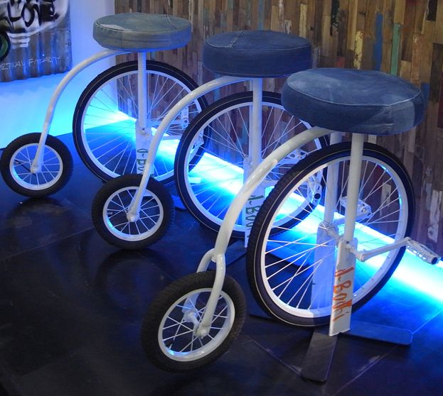 Denim cycling stool