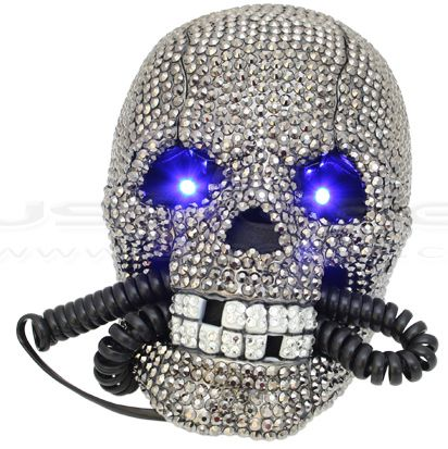 Diamond Skull Phone