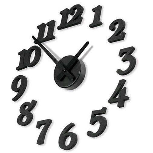 DIY Modern Art Foam Digit Wall Clock Home Decoration Clock