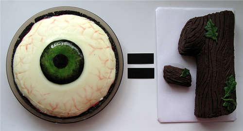 EYE PIE (Chocolate Cherry Almond Panna Cotta Pie)