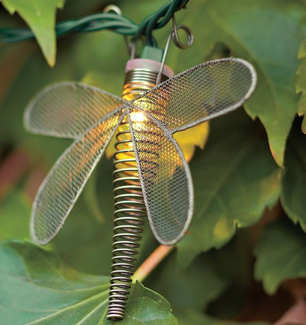 Wire Dragonfly String Lights