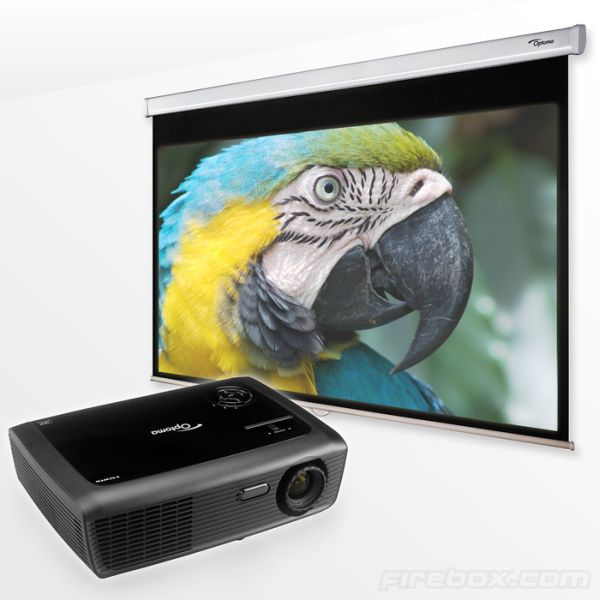 Optoma HD600X Projector and 84″ Screen