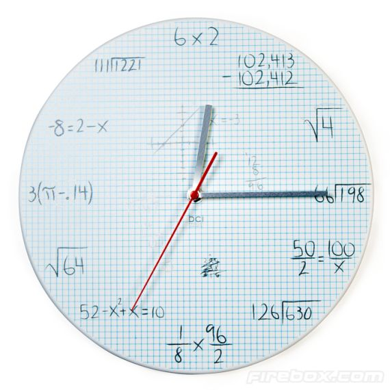 Graph Paper Pop Quiz Clock