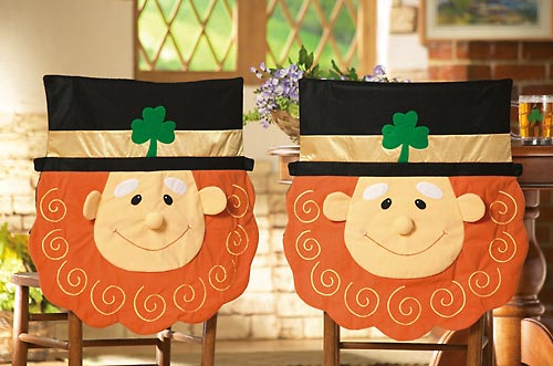 Smiling Leprechaun Chair Covers