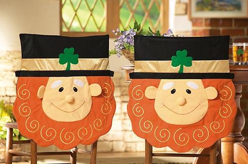 Smiling Leprechaun Chair Covers