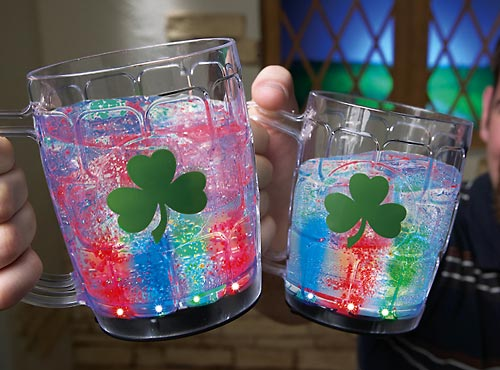 LED Light Up Tumblers w/ Shamrocks