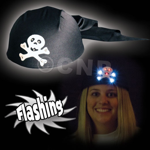 PIRATE L.E.D. FLASHING HAT