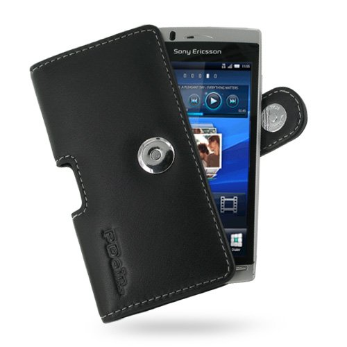 Black Leather Case for Sony Ericsson Xperia Arc X12
