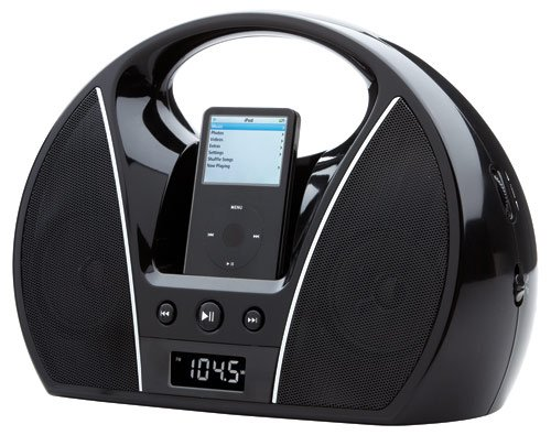Magnasonic Portable Boombox Speaker Dock for iPod