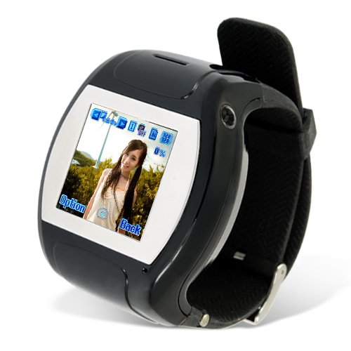 Qaud Band Watch Touch Screen Cell Phone Black