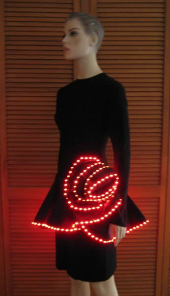 lighted rose dress