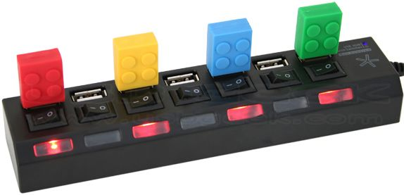 Independent Power Switch USB Hub (7 Port)