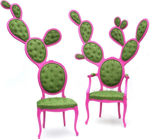 Prickly Pair Gentleman chair