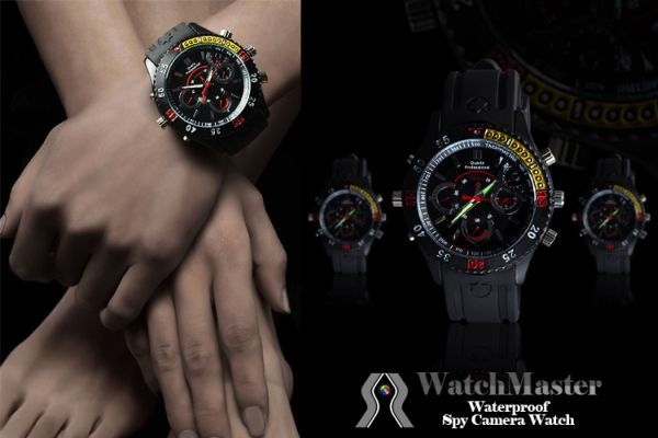 WatchMaster Waterproof Spy Camera Watch