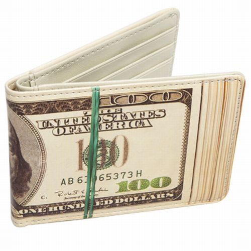 Loaded $100 One Hundred Dollar U.S Bill Wallet