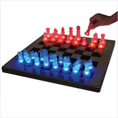 LED Glow Chess Set Color
