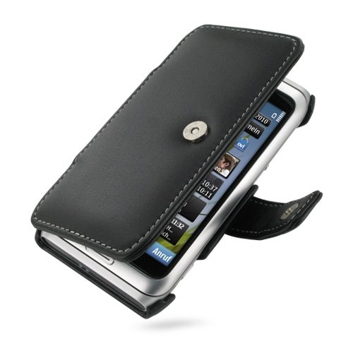 PDair B41 Black Leather Case for Nokia E7-00