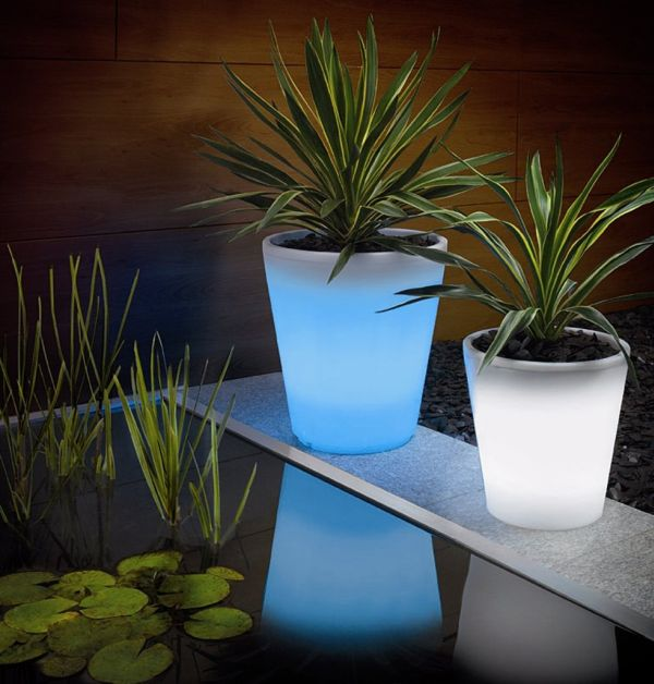 Solar Powered Plant Pots