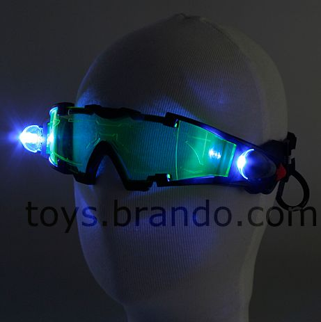Night Vision Goggles with Flip-Out LED Lights