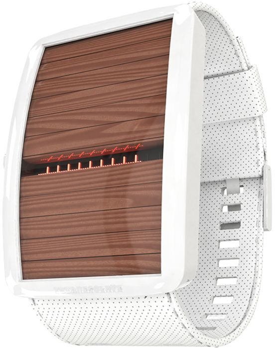 A Ceramic Watch Design With Wooden Shutters