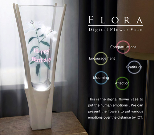Flora digital flower vase