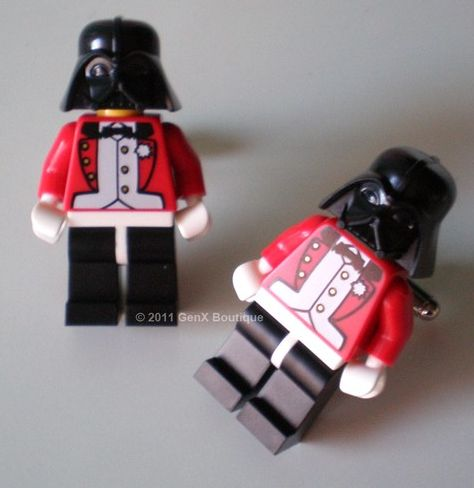 LEGO Star Wars Darth Vader In Red Tuxedo Silver Cufflinks
