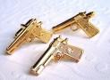 Gold Gun Cufflinks