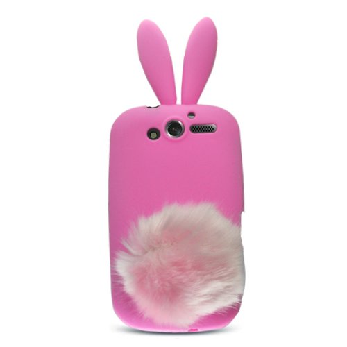Pink Rabit Bunny Design Soft Silicone Skin
