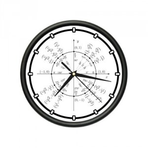 Wall Clock trigonometry math teacher