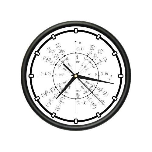 Wall Clock trigonometry math teacher