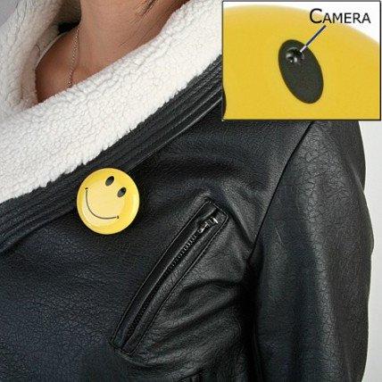 Smiley Face Spy Button Hidden Camera DVR