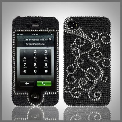 Crystal bling case-cover for Apple iPhone 4
